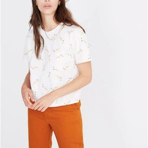 Madewell Easy Crop Tee in Daisy Sketch